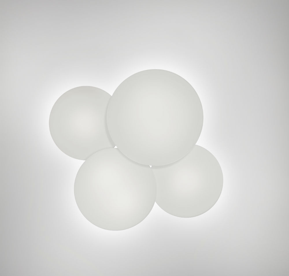 Puck quadruple Ceiling lamp 4xLED 7,35W Lacquered matt white