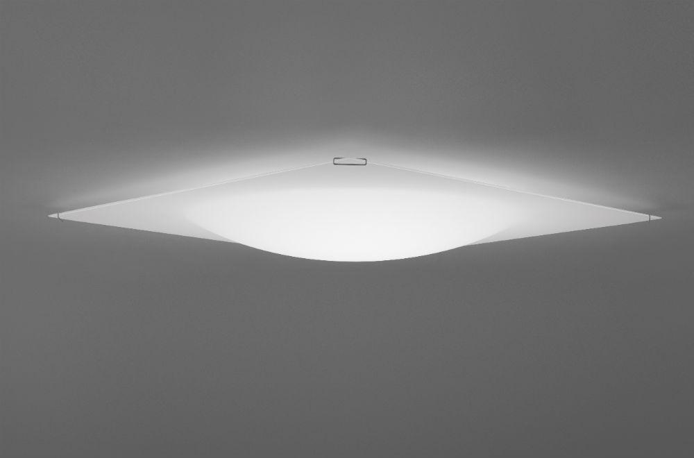 Quadra Ice Flat Ceiling lamp 60x60 1xR7s 230w white glass