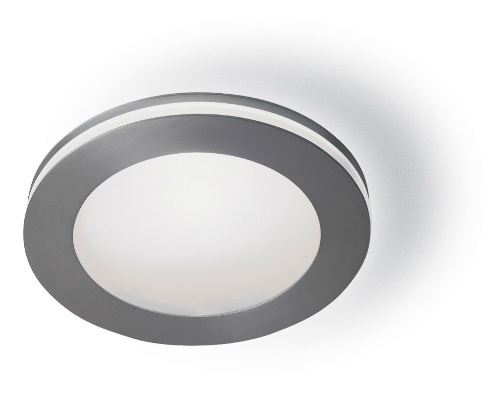 Sandwich mini plafón/Wall Lamp Round Nickel mate
