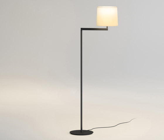 Swing Floor Lamp with lampshade Cream - Grey grafito