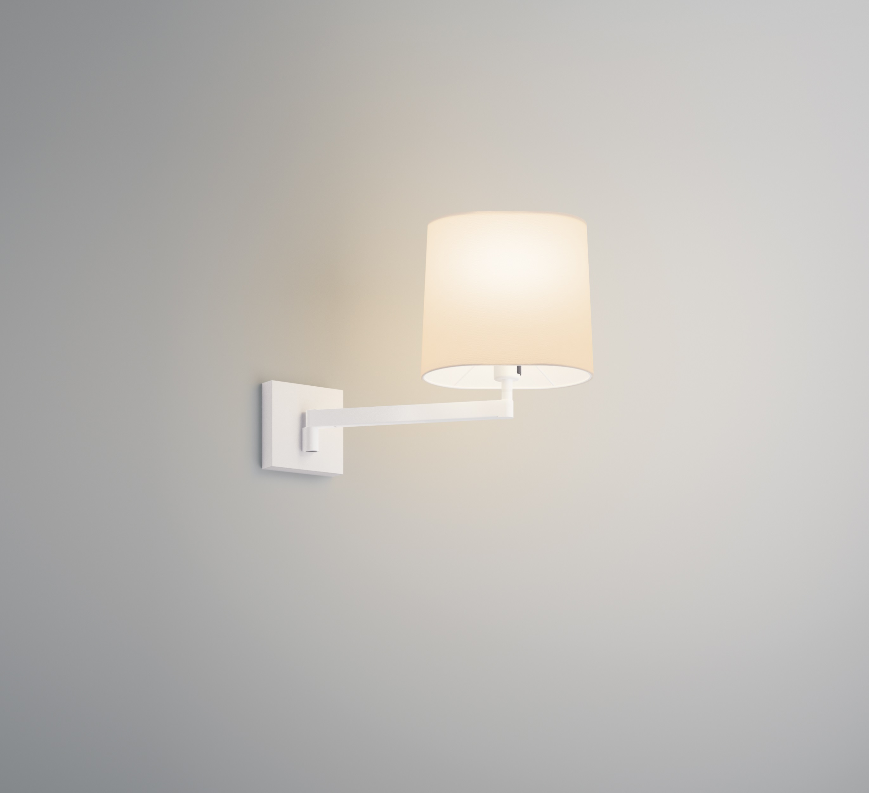 Swing Wall Lamp with lampshade Cream - Lacquered white matt