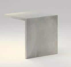 Empty Asiento 45x45x45 tira LED 2x8,6w hormigón polmero blanco
