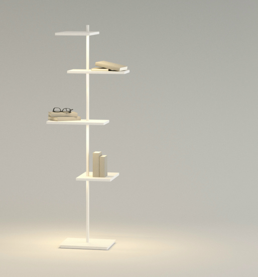 Suite Floor Lamp Large - Lacquered white Mate