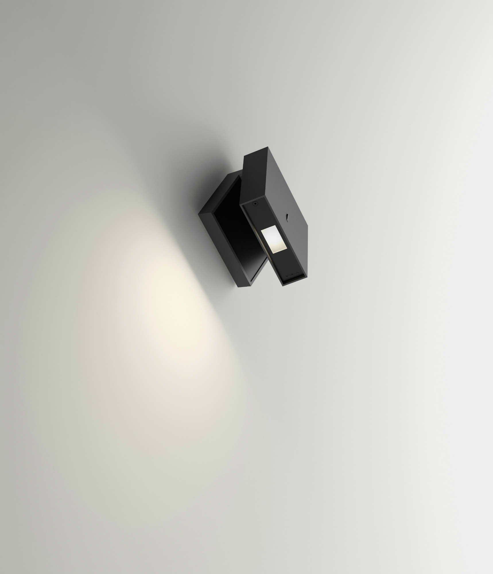 Alpha Wall Lamp Reading - Lacquered Graphite Matt and Black