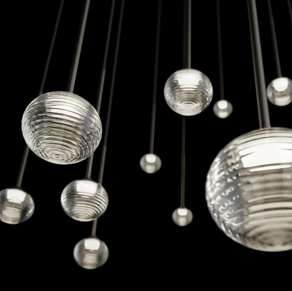Algorithm Pendant Lamp max. 200cm 1xLED 3,15W dimmable - Lacquered Graphite Mate