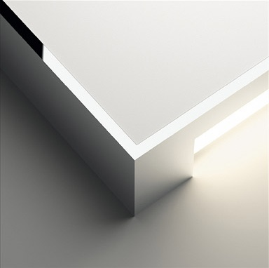 Alpha Wall Lamp Square - Lacquered white matt