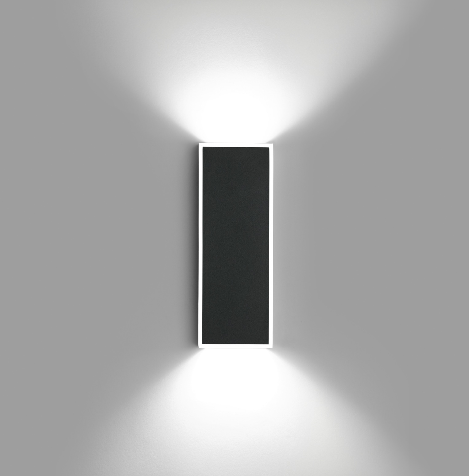 Alpha Wall Lamp rectangular - Lacquered Graphite Matt and Black