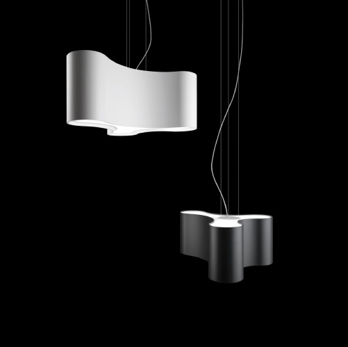 Ameba Pendant Lamp Single - Lacquered white Mate