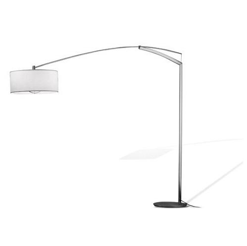 Balance Lâmpada de assoalho 215cm 3xE27 70w - Difusor Algodon/Niquel Mate