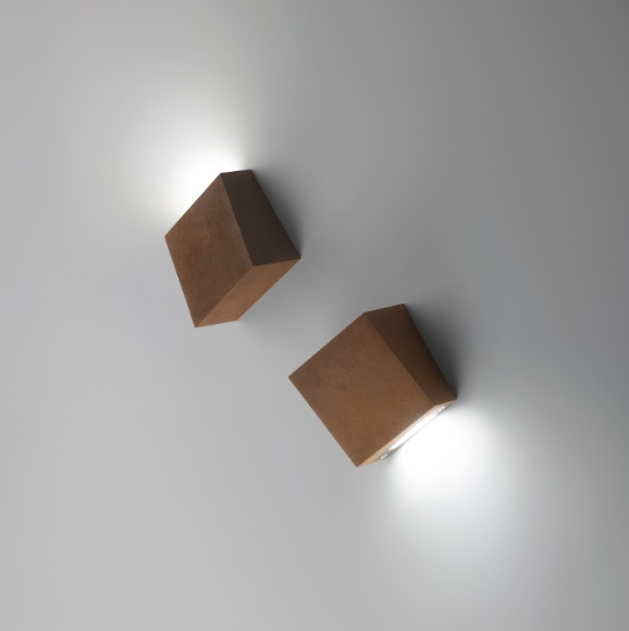Break Aplique 12x11cm 1xLED 2,1W dimmable - Lacado Oxido
