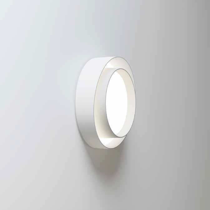 Centric ceiling lamp ø32cm (6cm) 1xLED 15,2W + 2xLED 4W dimmable - Lacquered white matt