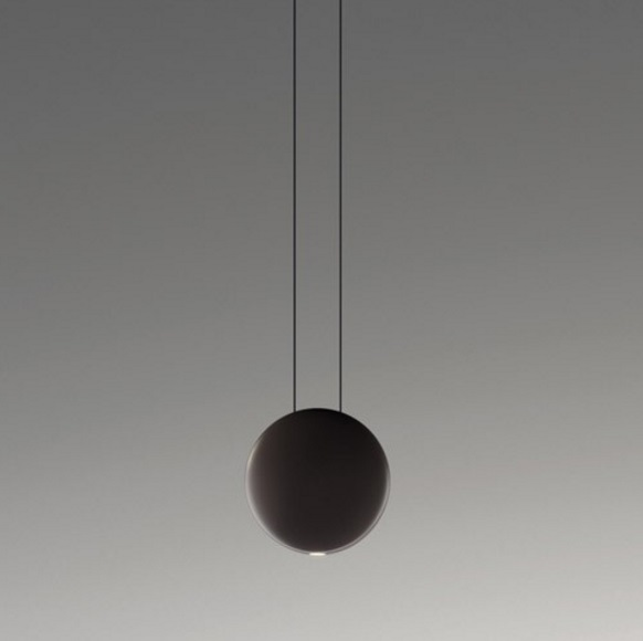 Cosmos Pendant Lamp satélite Small - Lacquered Brown Dark mate