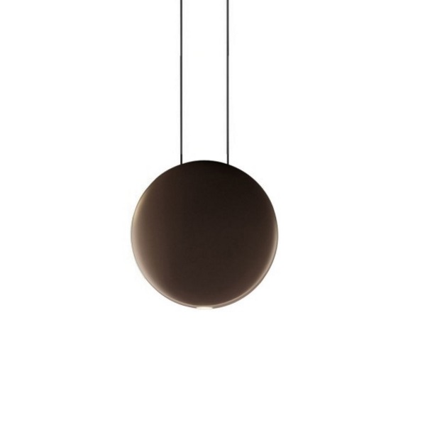 Cosmos Pendant Lamp satélite Large - Lacquered Brown Dark mate