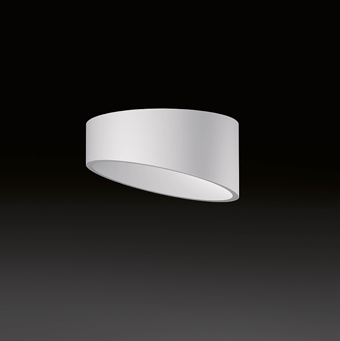 Domo ceiling lamp oblicuo adjustable LED 3x3W - Lacquered white matt