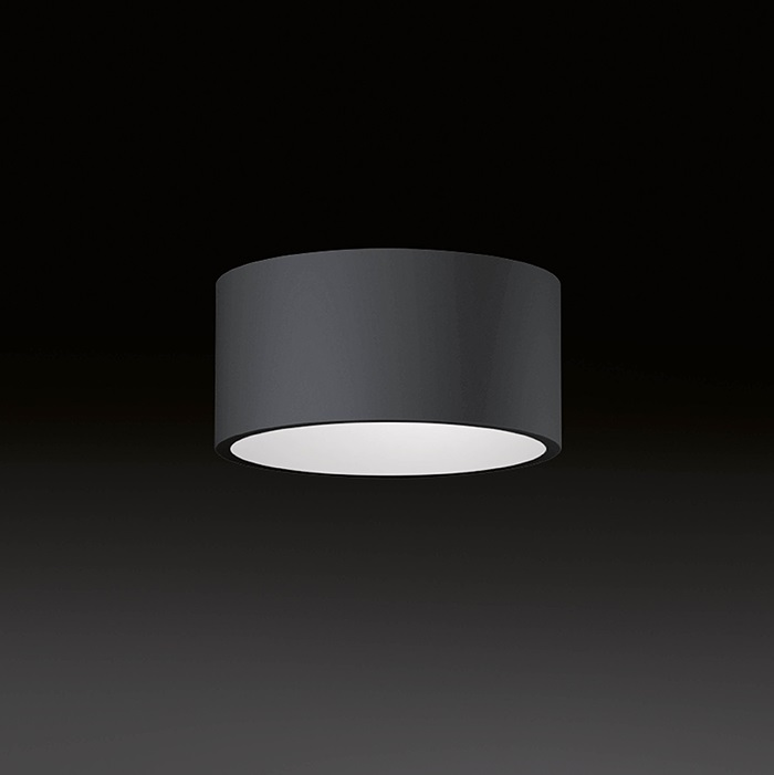 Domo ceiling lamp Recto LED 3x3W - Outdoor Graphite indoor white