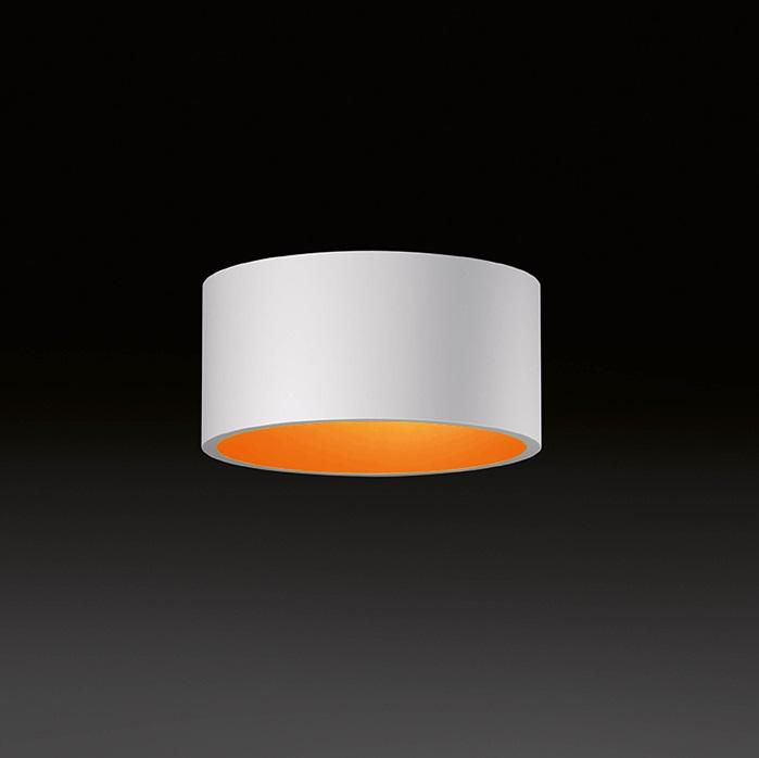 Domo ceiling lamp Recto LED 3x3W - Outdoor white indoor orange
