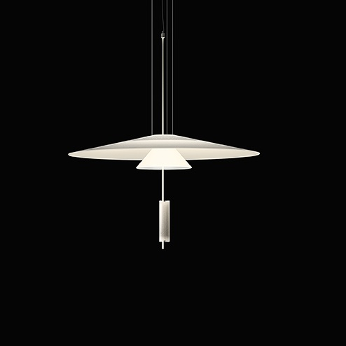 Flamingo Suspension 200cm (12cm Diffuseur) 2xLED 5,6W dimmable - Cuivre brillo