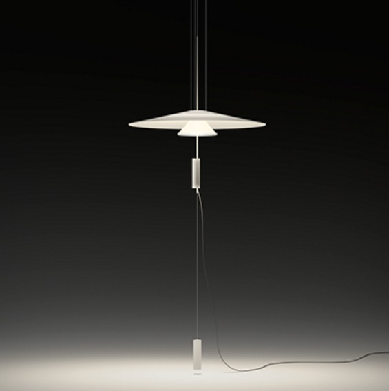Flamingo suspensión Difusor 70 cm con enchufe LED 2x5,6w - Cobre Brillo