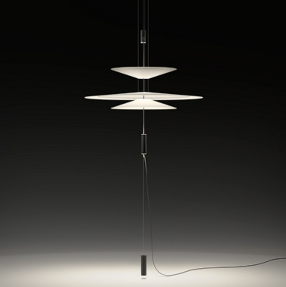 Flamingo suspensión triple Difusor 90cm con enchufe LED 3x5,6w - Cobre Brillo