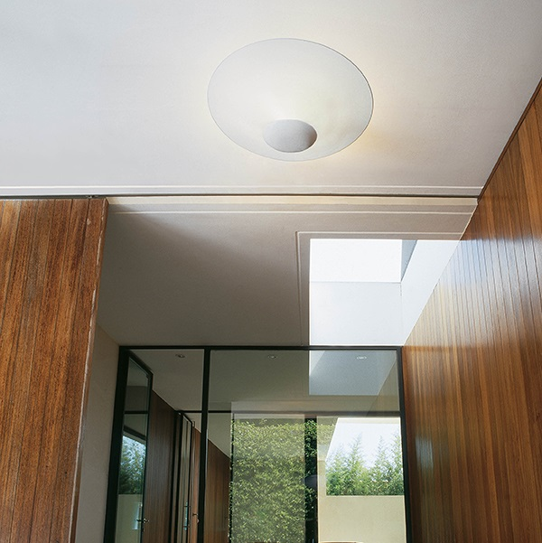 Funnel ceiling lamp ø50cm 3 x R7s 80mm 80W Eco - Lacquered white bright