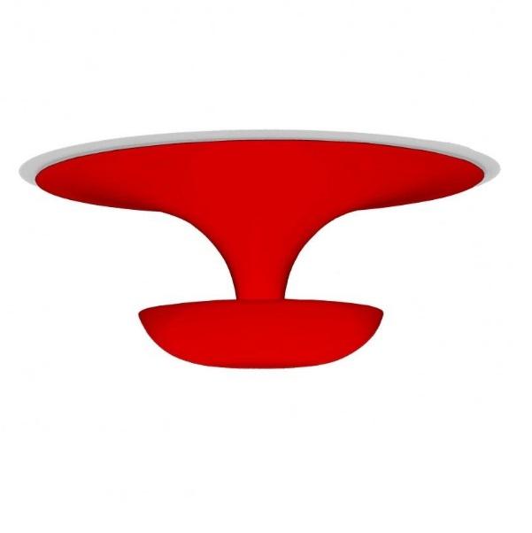 Funnel Mini Aplique/Plafón ø22cm 2xG9 60W - Lacado Rojo