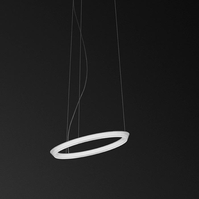 Halo Lámpara Colgante Circular Individual 1xLED 24V 23,7W - Lacado blanco Mate