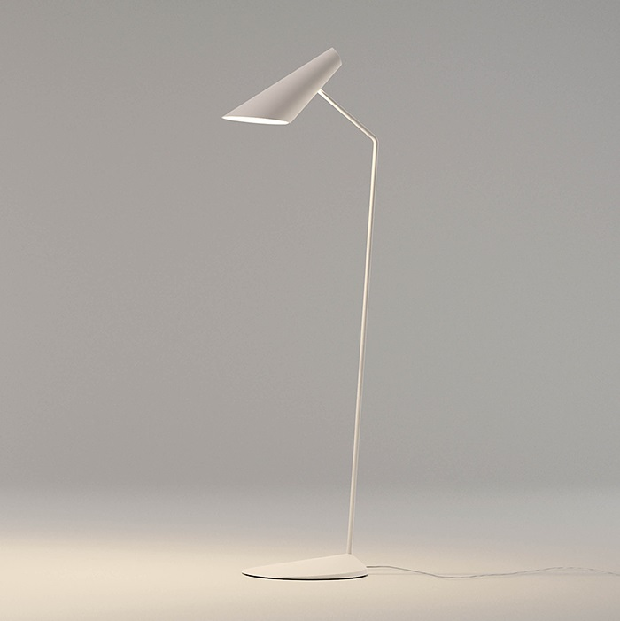 I.Cono Floor Lamp Reading 127cm modelo B 1xE14 46w - Lacquered white matt