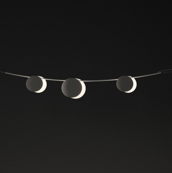 June Pendant Lamp Outdoor max. 200cm 3xLED 1W dimmable - Lacquered marrón Dark mate