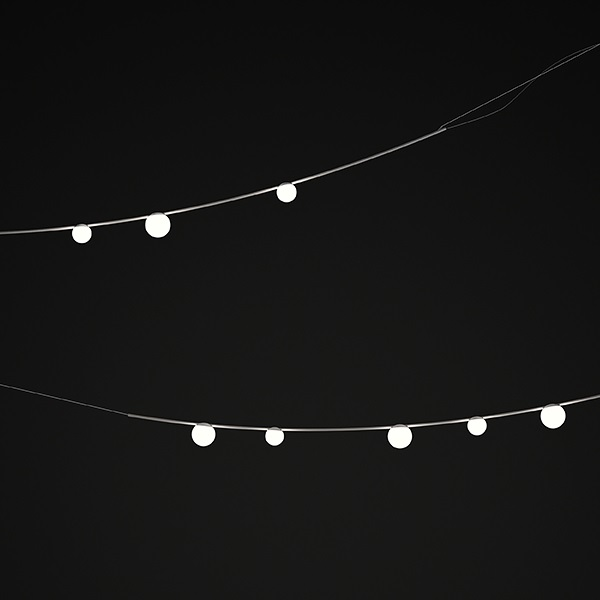 June Lámpara Colgante Exterior max. 200cm 3xLED 1W dimmable - Lacado marrón Oscuro mate