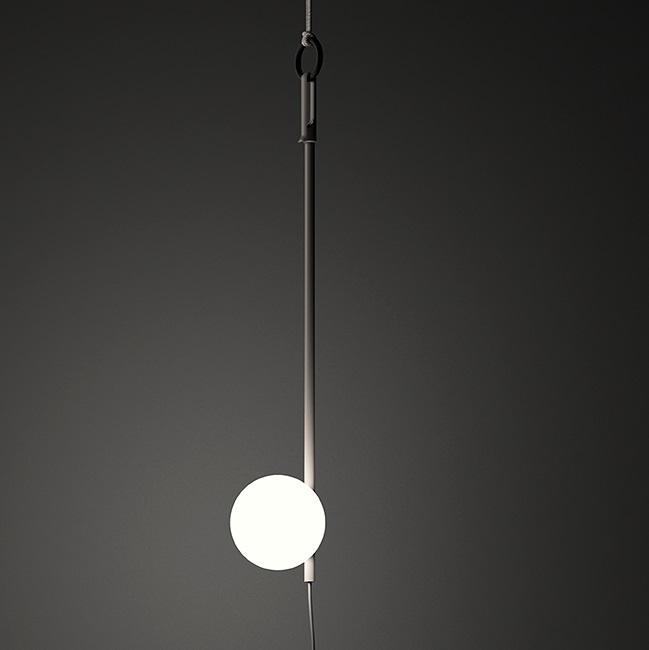 June Suspension Extérieure 44cm 1xLED 1W - Laqué marrón Sombre mate