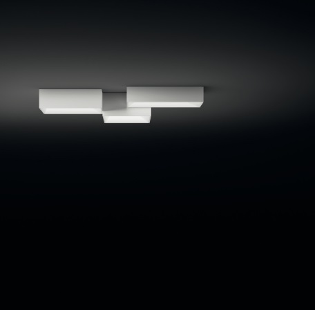 Link ceiling lamp composition 3 parts - Lacquered white Brillo