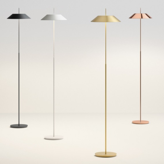 Mayfair Floor Lamp 147cm 1xLED 2,4W + 1xLED 16,8W dimmable lampshade of steel - Gold Satin mate