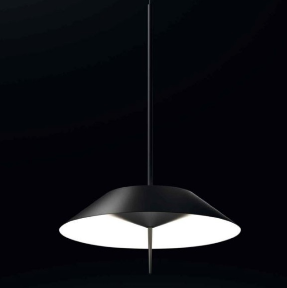 Mayfair Pendant Lamp ø100cm 1xLED 2,4W + 1xLED 16,8W dimmable lampshade of steel - Lacquered Graphite mate