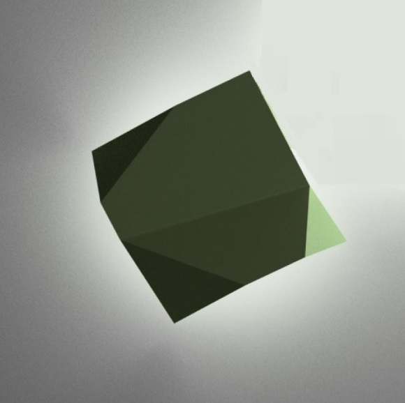 Origami Wall Lamp Modulo to - Lacquered Green Oxido