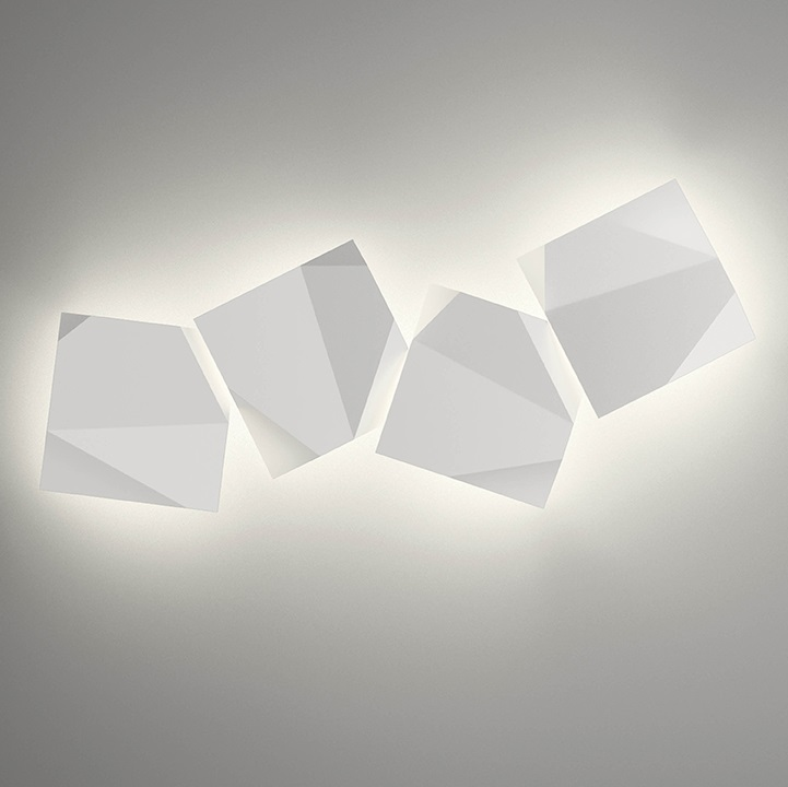 Origami Wall Lamp Quadruple - Lacquered Green Oxido
