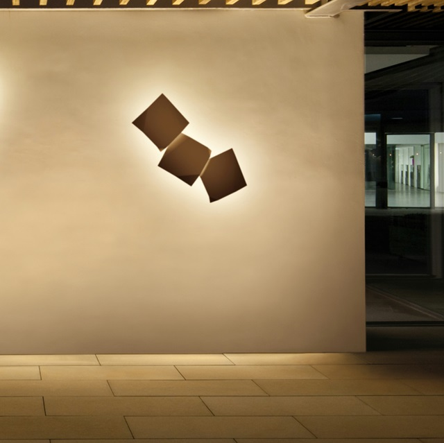 Origami Wandleuchte dreifache - Lackiert Oxido