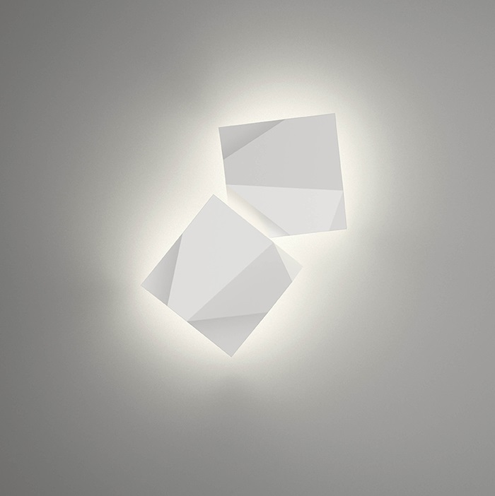 Origami Wall Lamp Doble - Lacquered Green Oxido