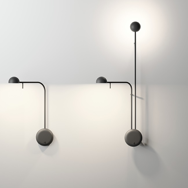Pin wall light 39x25cm 1xLED 4,5W dimmable - Lacquered black matt