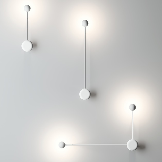 Pin wall light 70cm 1xLED 4,5W dimmable - Lacquered white matt