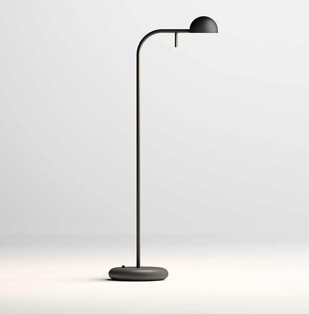 Pin Table Lamp 55x23cm 1xLED 4,5W dimmable - Lacquered black matt