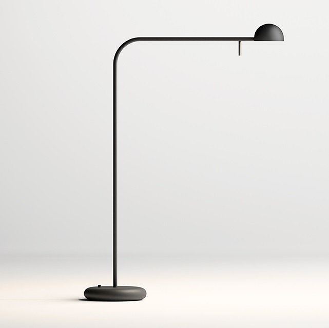Pin Lámpara de Pie 125x25cm 1xLED 4,5W dimmable - Lacado negro mate