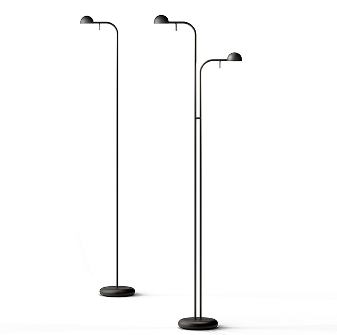 Pin Floor Lamp 125x25cm 1xLED 4,5W dimmable - Lacquered Cream mate