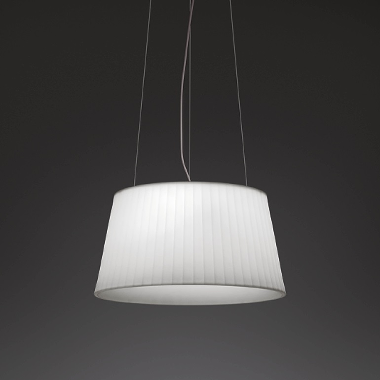 Plis Outdoor Pendant Lamp Outdoor E27 - White lacquered