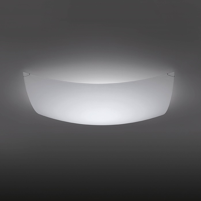 Quadra Ice ceiling lamp 60x60cm 2x2GX13 22+40w - Glass white