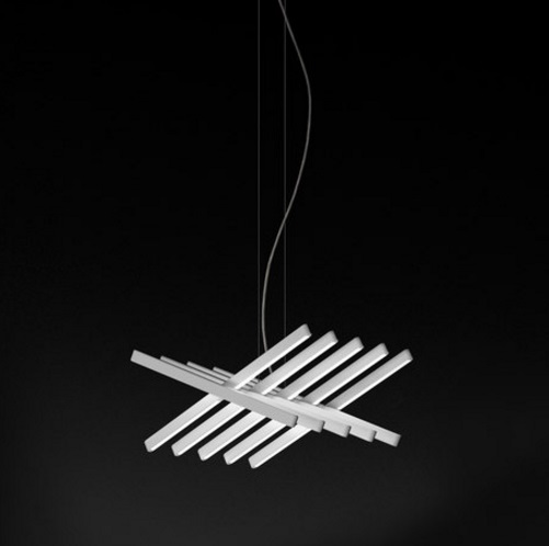 Rhythm Pendant Lamp horizontal 10 Stickers Cortos - Lacquered white Roto Mate