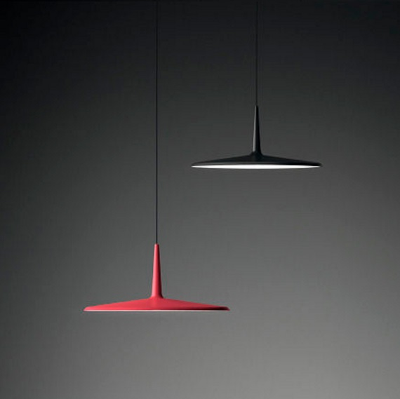 Skan Pendant Lamp of Surface ø30cm - Lacquered Graphite Mate