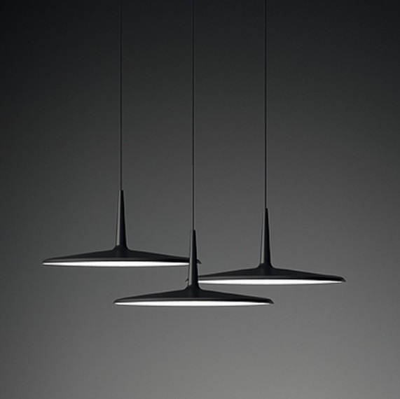 Skan Pendant Lamp Small set of 3 - Lacquered Graphite Mate
