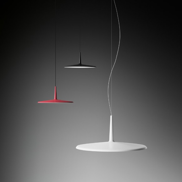 Skan Pendant Lamp of Surface ø60cm - Lacquered Graphite Mate
