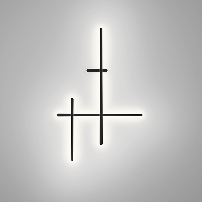 Sparks Wall Lamp Small LED 34,8w dimmable dali - Grey grafito