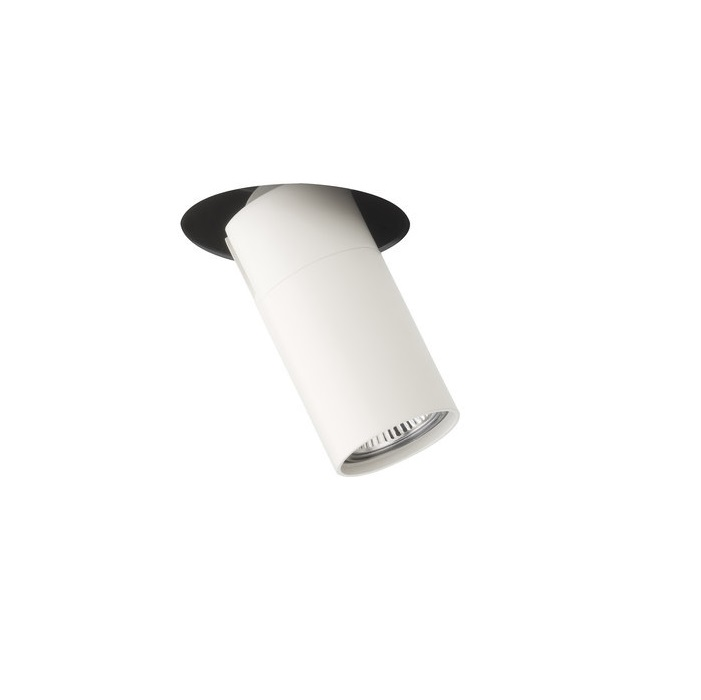 Stage Spotlight semiRecessed 11,5cm QR-CBC51 12V - Lacquered white matt